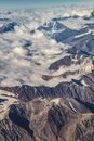Andes Mountains Aerial View, Chile Royalty Free Stock Photo