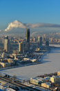 Aerial view of yekaterinburg russia january to the city in a winter day is the most compact city with million and more Stock Photography