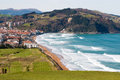 Aerial view of Zarautz Stock Photography