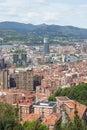 Aerial views of city center Bilbao, Bizkaia, Basque country, Spa Royalty Free Stock Photo