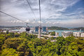 Aerial views of Sentosa island, Singapore. Royalty Free Stock Photo
