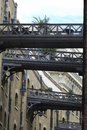Aerial walkways in Southwark. UK Royalty Free Stock Photo