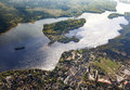 Aerial of the Wannsee in Berlin Royalty Free Stock Photo