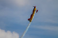 Aerobatic airplane in the sky Stock Photography