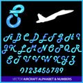 Aerobatics in an airplane alphabet Royalty Free Stock Photos