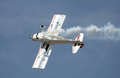 Aerobatics plane an performinc on an sunny airshow Royalty Free Stock Photography