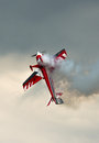 Aerobatics With Smoke Royalty Free Stock Photo