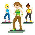 Aerobic Steps Stock Photo