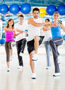 Aerobics class at the gym Royalty Free Stock Photo