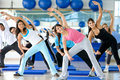 Aerobics class in a gym Stock Photos