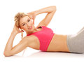 Aerobics exercises Royalty Free Stock Photo
