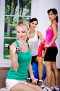 Aerobics girls Stock Photos