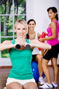 Aerobics girls Stock Image