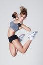 Aerobics jump Royalty Free Stock Photography