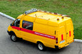 The aerodrome operational rescue vehicle boryspol ukraine october chassis gazelle at airport borispol Stock Photos