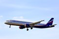 Aeroflot airbus a moscow may arrives to sheremetyevo international airport russia Stock Photography