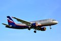 Aeroflot airbus a moscow may arrives to sheremetyevo international airport russia Stock Image