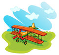 Aeroplane illustration of on a white background Stock Photo