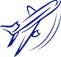 Aeroplane logo concept Royalty Free Stock Photo