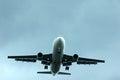 Aeroplane take off for landing Stock Image