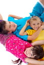 Affectionate children Stock Images