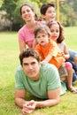 Affectionate family enjoying outdoors Royalty Free Stock Photo