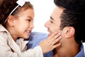 Affectionate girl with father Royalty Free Stock Photography