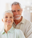 An affectionate old couple having fun together Royalty Free Stock Photos