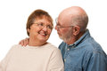 Affectionate Senior Couple Portrait Stock Photo