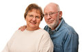 Affectionate Senior Couple Portrait Stock Photos