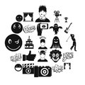 Affective icons set, simple style Royalty Free Stock Photo