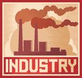 Affiche d'industrie Photographie stock