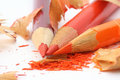 Affilage des crayons colorés #3 Image stock