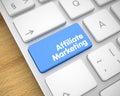 Affiliate Marketing - Message on Blue Keyboard Key. 3D.