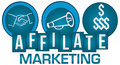 Affiliate Marketing Three Circles Stripes Royalty Free Stock Photo