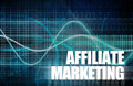 Affiliate marketing to make money online concept Stock Photo