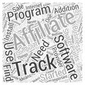 Affiliate Tracking Software Review ShareResults word cloud concept background