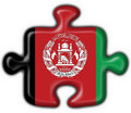 Afghanistan button flag puzzle shape Stock Image