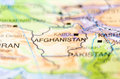 Afghanistan country on map Royalty Free Stock Photo