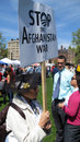 Afghanistan War Protester Tea Party Rally Boston Royalty Free Stock Images