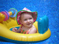 Afloat baby Royalty Free Stock Photos