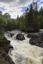 Afon Llugwy white water Royalty Free Stock Photo