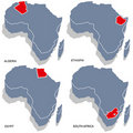 Africa 3d map Stock Photos