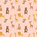 Africa animals graphic travel seamless pattern vector