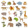 Africa animals set isolated for web design Stock Images