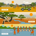 Africa Banners Set Royalty Free Stock Photo