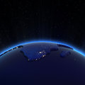 Africa city lights at night elements of this image furnished by nasa Royalty Free Stock Image