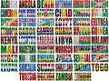Africa countries flag words Stock Photo
