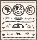 Africa Design Elements Royalty Free Stock Images