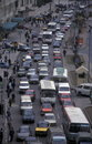 Africa egypt cairo trafic road in the city centre of the capital of in north Stock Images